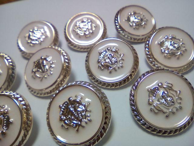 10個 シャンクボタン 足つきボタン ブレザーボタン 22mm D23