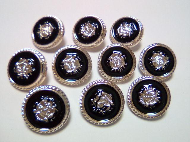 10個 シャンクボタン 足つきボタン ブレザーボタン 21mm D28
