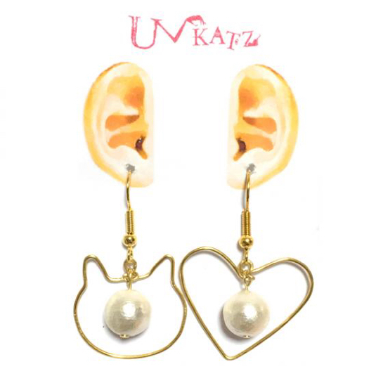 Ukatz NO.393 LOVE CATピアス