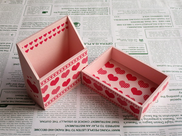 ハートの小箱セット(ピンク)