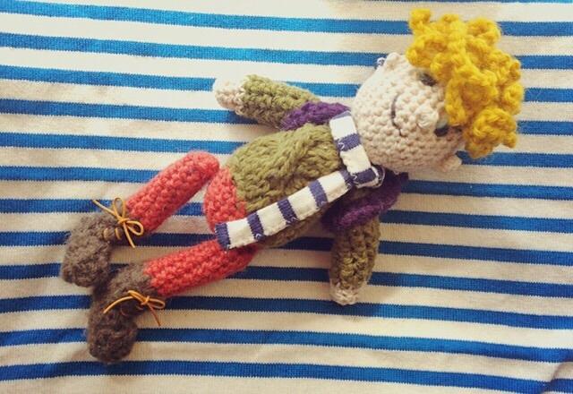 手編みドール  あみぐるみ(天然パーマの男の子)
