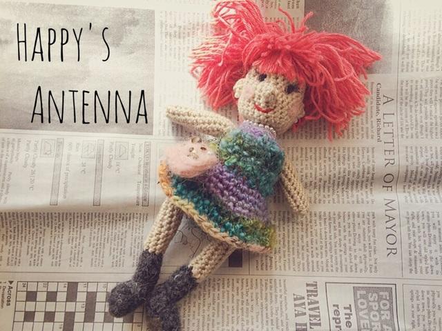 手編みドール  あみぐるみ(ピンクヘアの女の子)