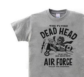 空飛ぶ骸骨〜THE FLYING DEAD HEAD〜 WM〜WL?S〜XL Tシャツ【受注生産品】