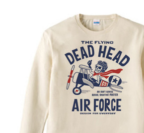 空飛ぶ骸骨〜THE FLYING DEAD HEAD〜 長袖Tシャツ【受注生産品】
