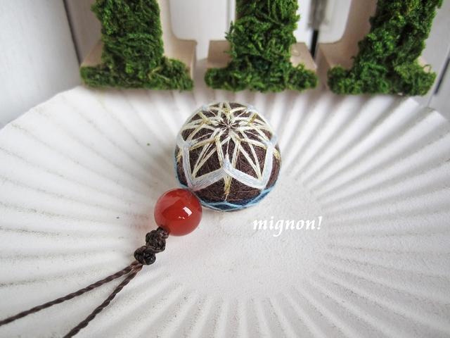 小さな小さな手まりの紐つき