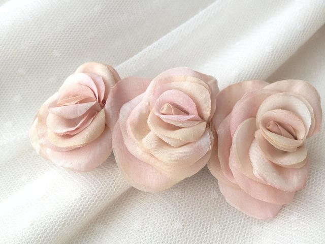 3連ローズバレッタ pink