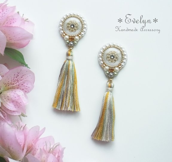 tassel��circle�� earring�������졼