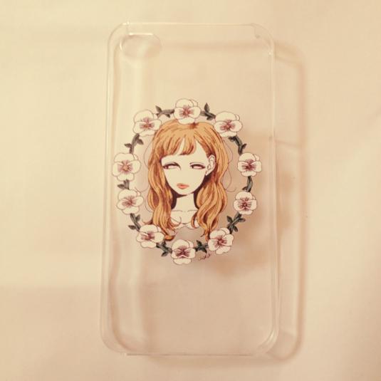 【SALE】女の子とお花のiPhoneケース