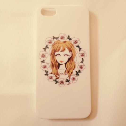 女の子とお花のiPhoneケース