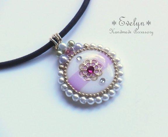 circle pendant☆mum☆gold×pink