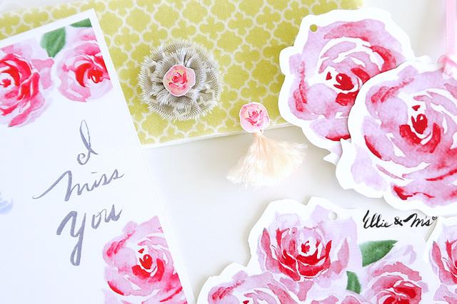 Rose-Rose-Rose アクセとタグカードセット
