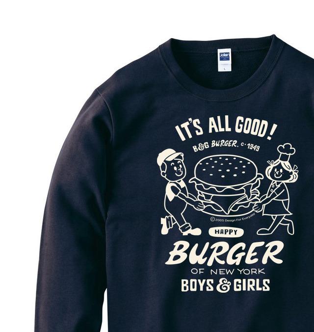 【再販】ハンバーガー&BOY&GIRL トレーナー【受注生産品】
