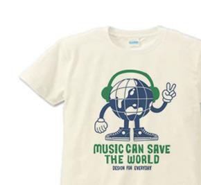 ヘッドフォン&アースマン S〜XL  Tシャツ【受注生産品】