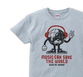 ヘッドフォン&アースマン XS(女性XS〜S)   Tシャツ【受注生産品】