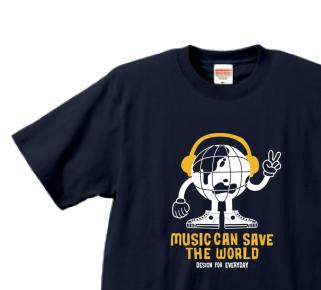 ヘッドフォン&アースマン XS〜XL   Tシャツ【受注生産品】