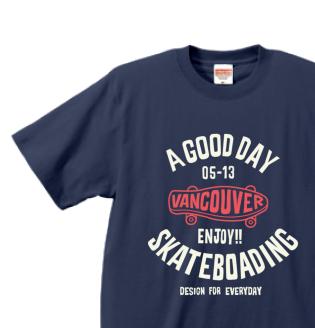 スケートボード XS〜XL   Tシャツ【受注生産品】