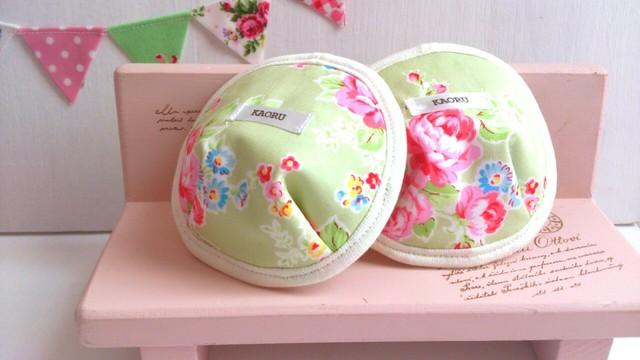 可愛い布母乳パット〜きみどり花柄