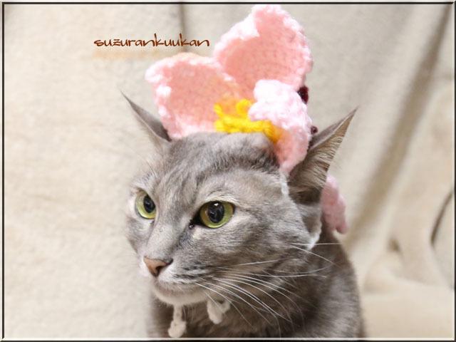 ★受注制作★編み桜花ハット