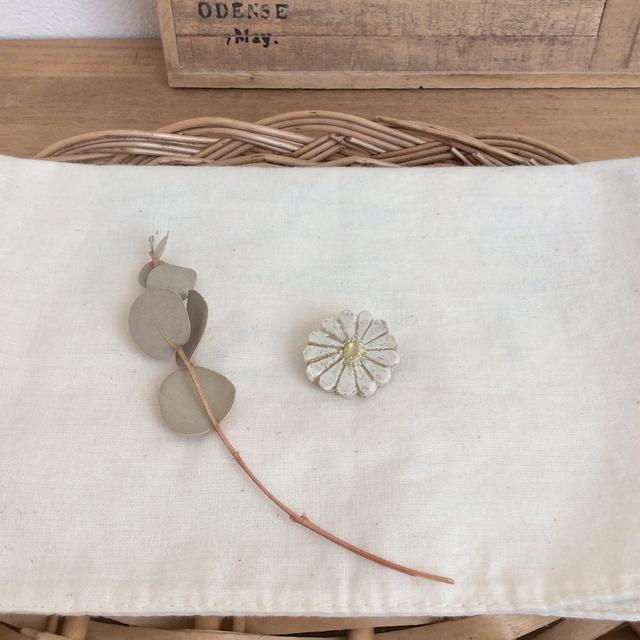 陶土ブローチ*お花