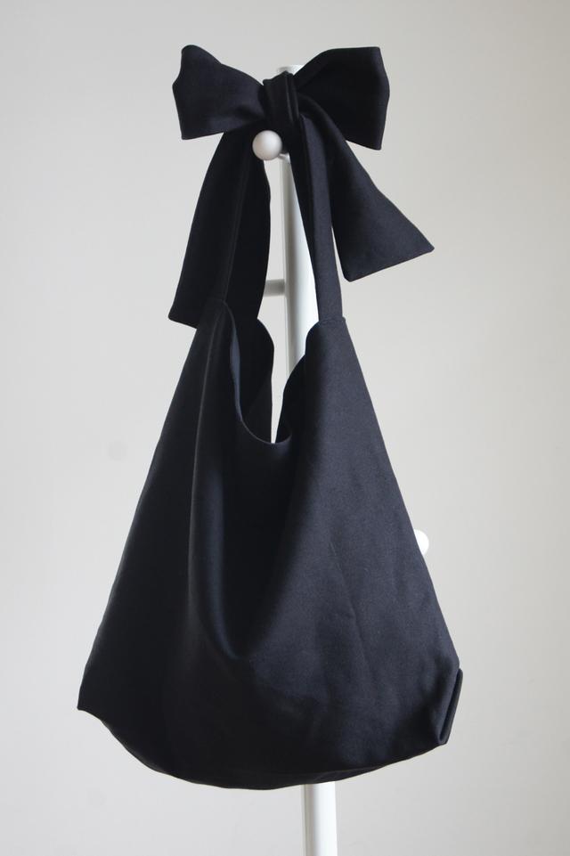 【new】リボンのバッグ(ブラック)