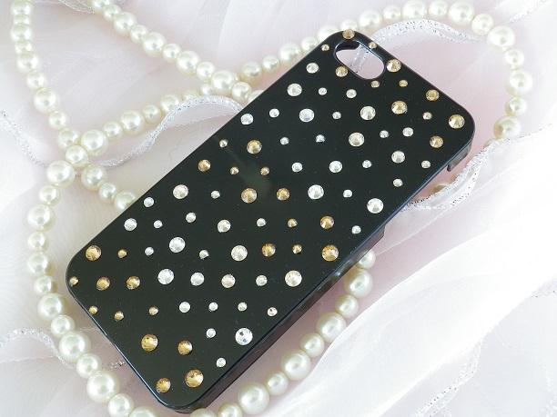 iphone5/5sケース★ スワロゴールドシャ...