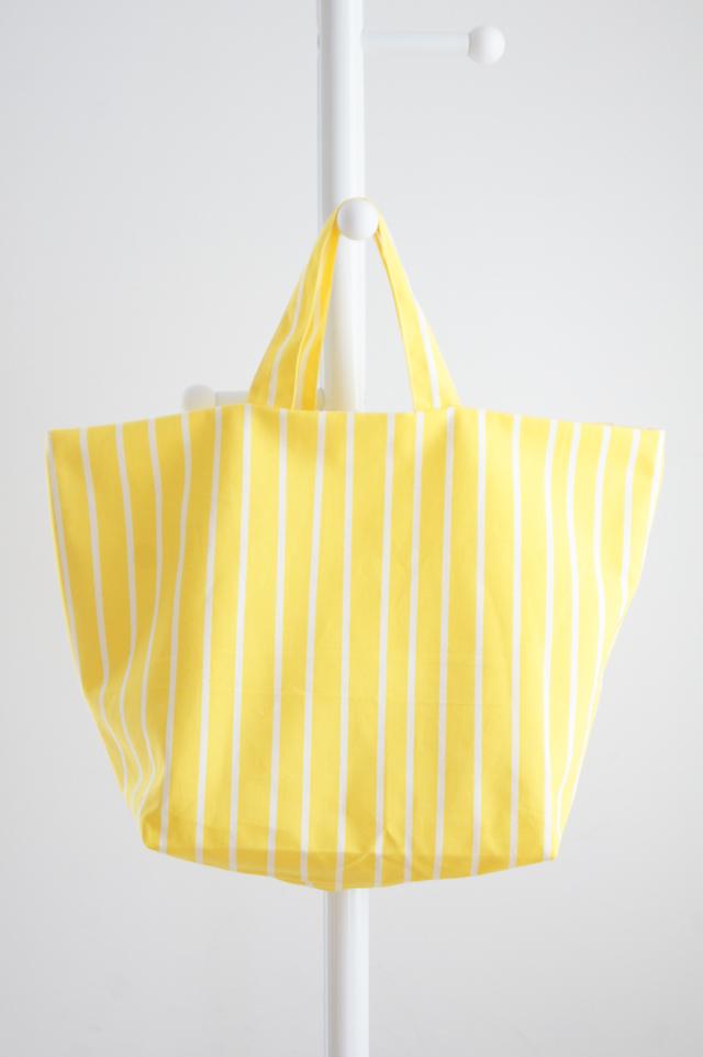 シンプルトートバッグ(黄×白)