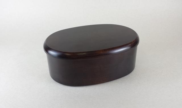 1段楕円弁当箱 拭漆