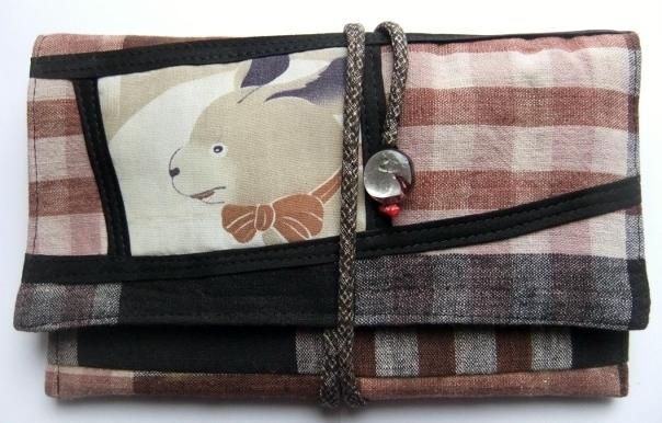 着物リメイク 布団側で作った和風財布 1102
