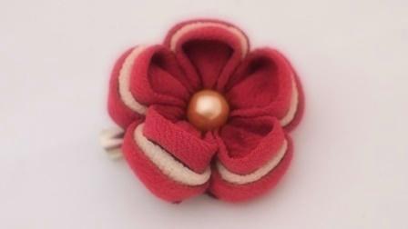 つまみ細工 葡萄茶色(えびちゃいろ)のお花