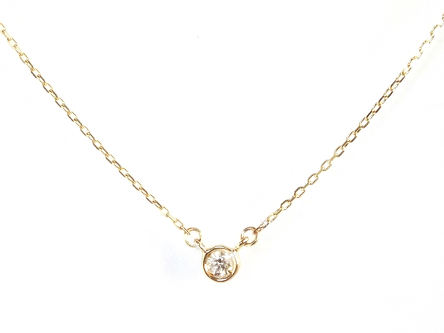 K10 Bezel Diamond Necklace