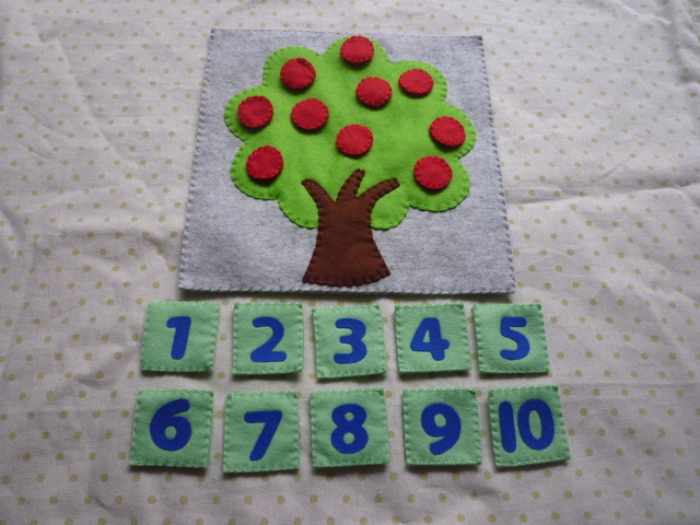 <再販4>数字の木(青)