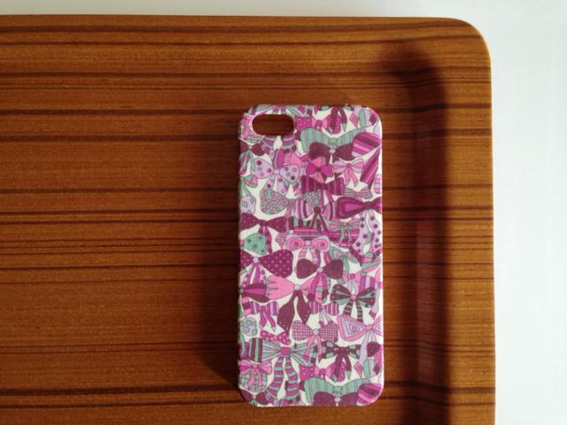 iphone5/5s*完売色*ジェニーズリボンズ*リバティ* パープル系
