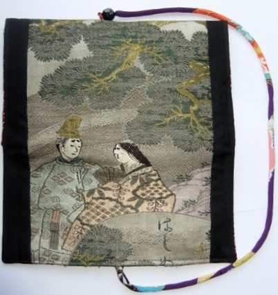 着物リメイク 男の子の袴で作った和風財布 1105