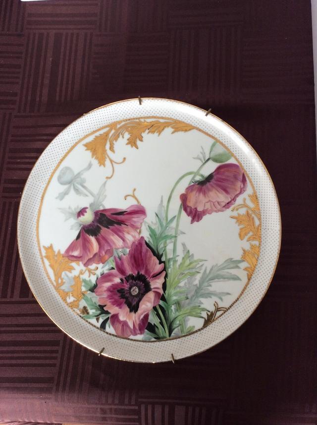 けしの絵皿