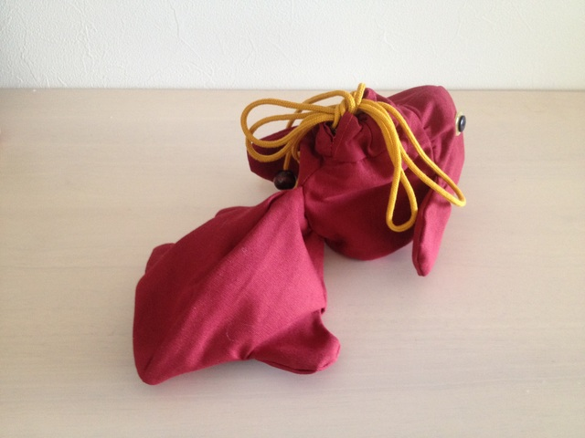 金魚の巾着(赤)