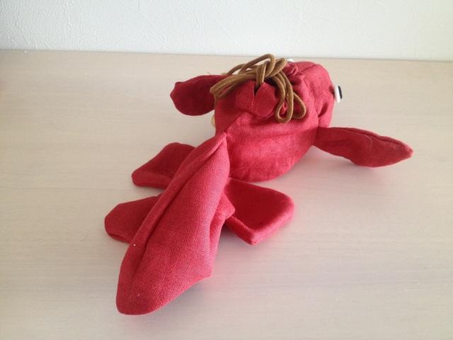 金魚の巾着(紅)