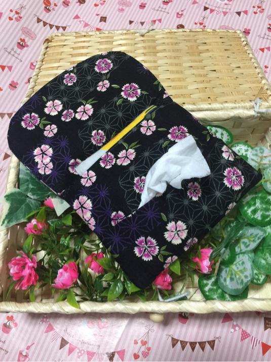 移動ポケット  裏メッシュ  -和柄 桜