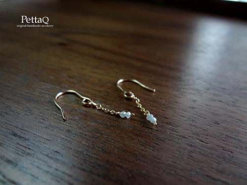 4月の誕生石【14KGF】ダイヤモンドのピアス/再販