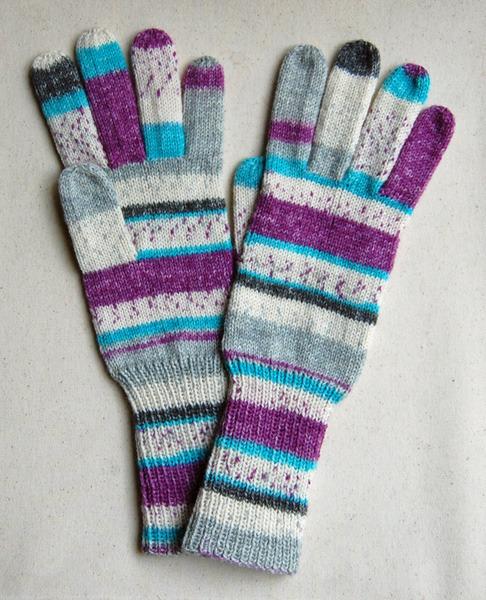 手編み5本指手袋 No.17