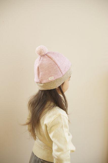 ☆20%OFF☆kidsあったかニットベレー帽(L)杢ピンク