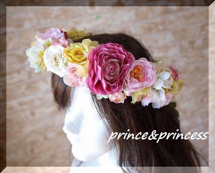 お花たっぷり花冠