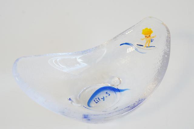 波乗りチーズ天使 ガラス皿