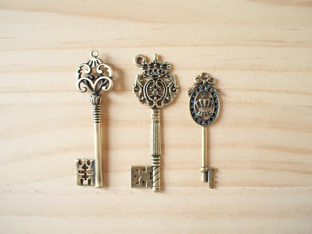 Vintage Charm set, Antique key/ �ӥ�ơ������㡼�ࡢ�� K-2