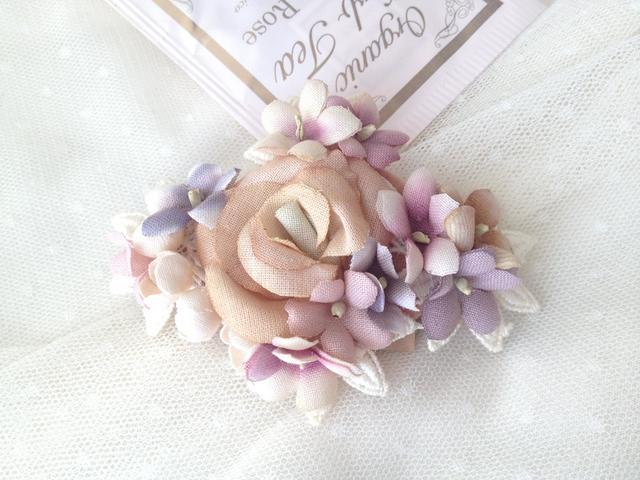FLOWER DIAMOND バレッタ antique color