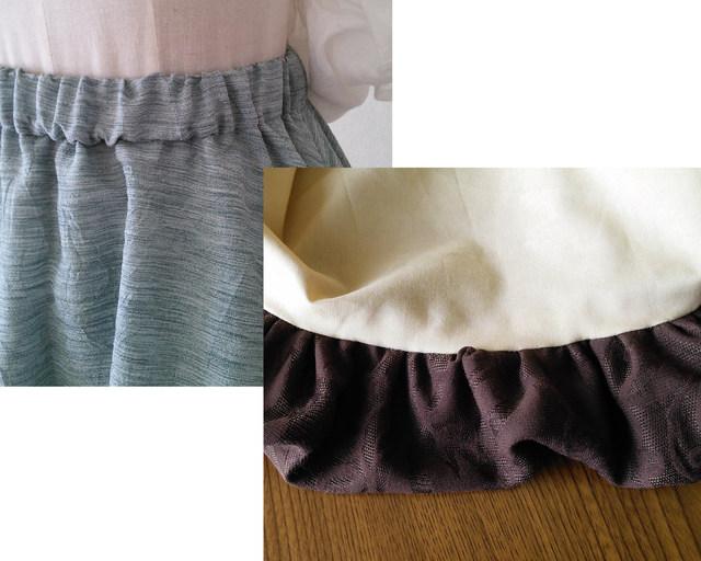 【張り合せなし型紙】 大人 バルーンスカート フリー