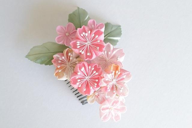 <再販>tumami*しだれ桜 コーム