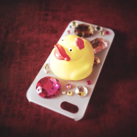 iPhone5,5s用 お風呂アヒルのケース