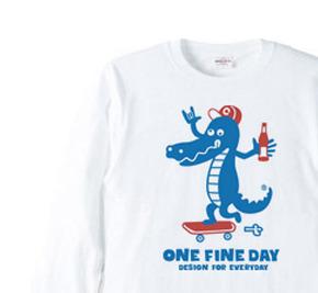 sk8 クロコダイル 長袖Tシャツ【受注生産品】