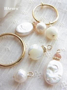付け替えフープイヤリング(pearl!pearl!)