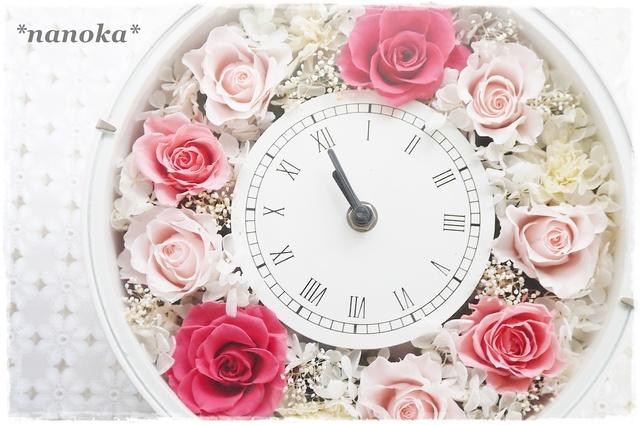 【NEW】 ピンク系の花時計